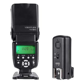 Mugast WS-560IV Speedlite Flash, 2.4G cámara inalámbrica Speedlite ...