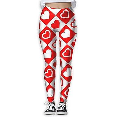 Amazon.com: Tinger rojo corazón para mujer pantalones de ...
