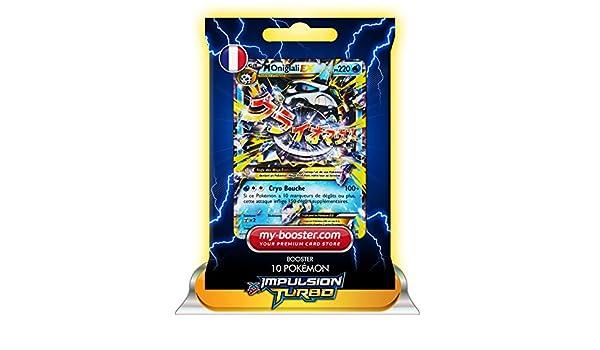 Pokémon - Paquete de 10 cartas de expansión TURBO-Impulso de Glalie EX 35/162 (220 HP, XY08) [texto en francés]: Amazon.es: Juguetes y juegos