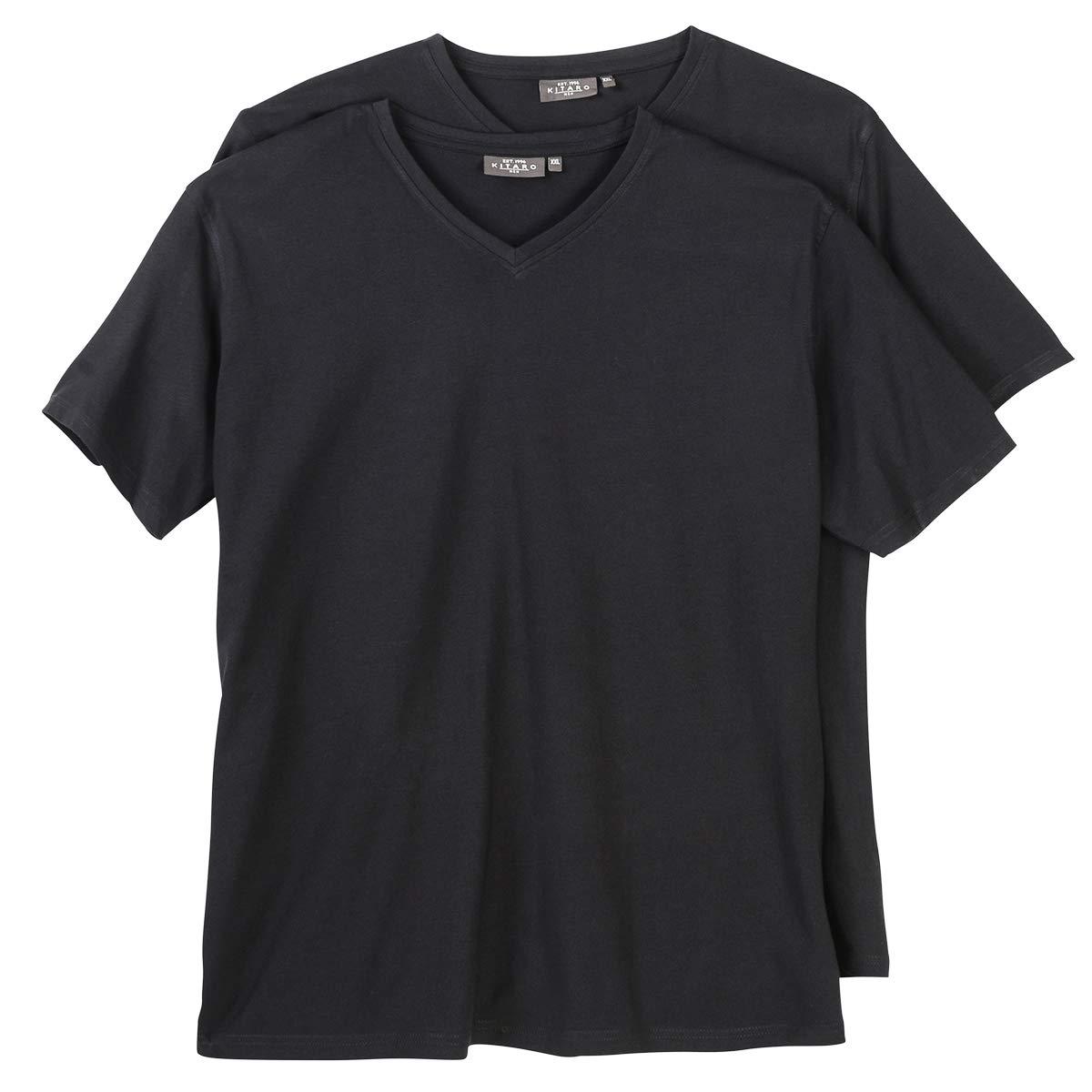 Kitaro Doppelpack V-Neck T-Shirt Herren Übergröße schwarz B00KKCROPM T-Shirts Kompletter Kompletter Kompletter Spezifikationsbereich 397b68