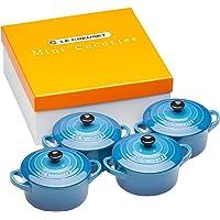 Le Creuset 91006900310010 Set de mini cocottes, Redondas