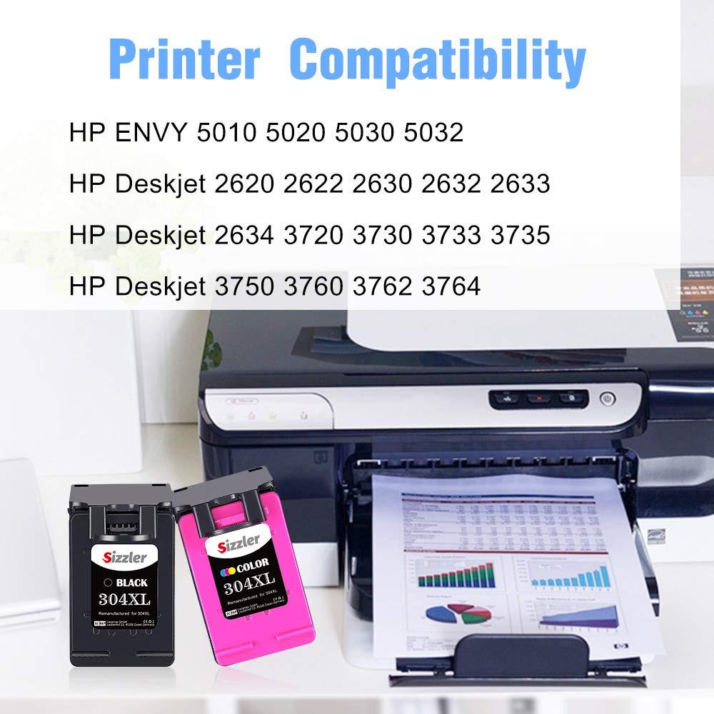 Sizzler Remanufacturado 304XL Cartuchos de Tinta Reemplazo para HP ...
