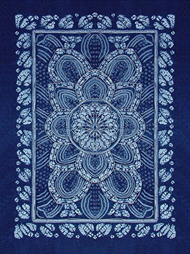 Interact China 100% Hand Batik All Cotton 150x200cm Table Cloth Cover Tapestry Throw Wall Decor (Hand Batik Cotton Table Runner)