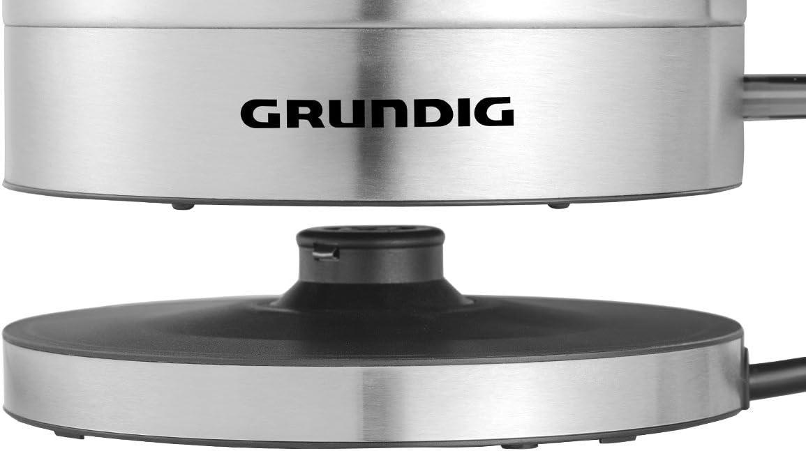 Grundig WK 4640 bouilloire électrique 1 L Noir, Acier inoxydable 2200 W