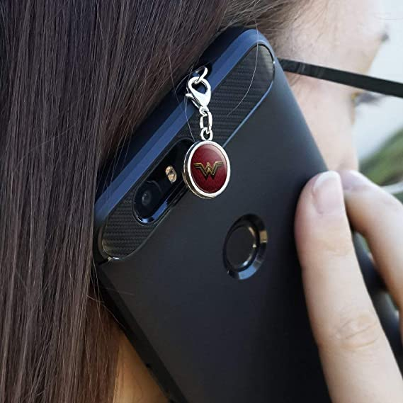 Wonder Woman Movie Golden Lasso Logo Mobile Cell Phone Headphone Jack Charm fits iPhone iPod Galaxy