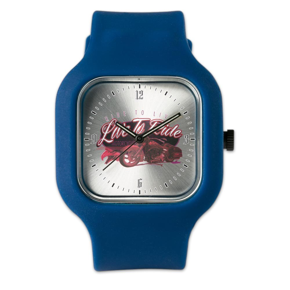 Navy Blue Fashion Sport Watch Live to Ride Ride to Live Hogs Bikes