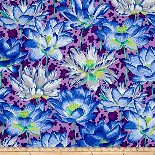 Rowan Philip Jacobs Leopard Lotus Purple Fabric by The Yard,