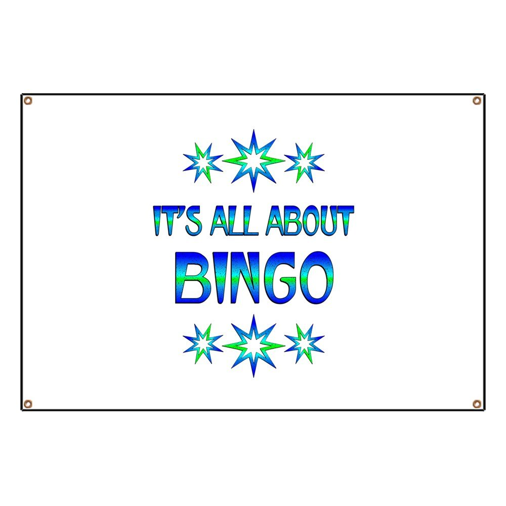 CafePress All About Bingo - Vinyl Banner, 44''x30'' Hanging Sign, Indoor/Outdoor by CafePress