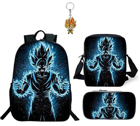 Amazon.com: 3PCs Dragon Ball Z Mochila escolar Laptop Case ...