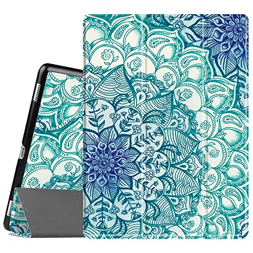 Fintie iPad Pro 12.9 Case - [SlimShell] Ultra Lightweight Standing Protective Cover with Auto Wake / Sleep for Apple iPad Pro 12.9 (1st Gen 2015) / iPad Pro 12.9 (2nd Gen 2017), Emerald Illusions