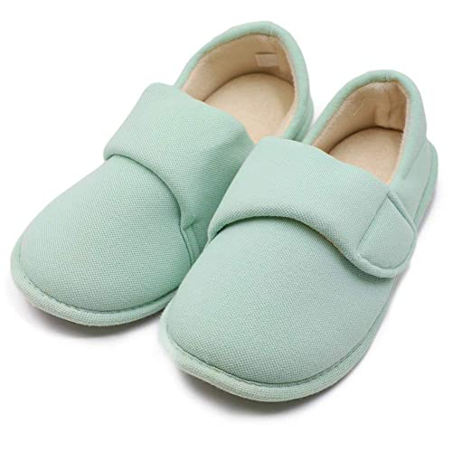 promo codes cheap prices more photos BUYITNOW Womens Extra Extra Wide Slippers with Adjustable Closures Swollen  Feet for Pregnant, Diabetic, Edema