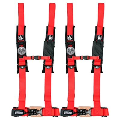 "Pro Armor A114220RD Red 4 Point Harness 2"" Straps, 2 Pack: Automotive"
