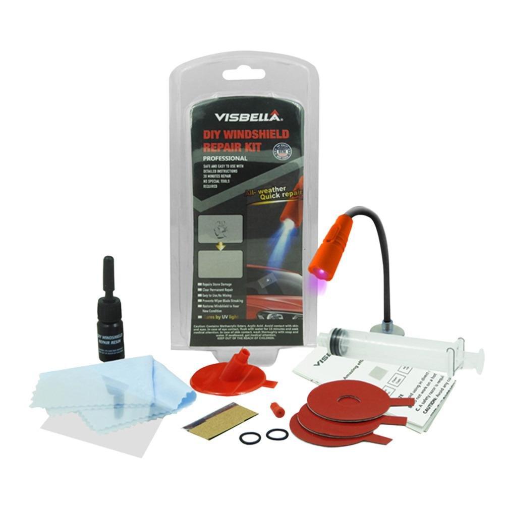 Cathy02Marshall Windschutzscheiben-Reparatur-Kits mit Licht Auto-Fenster-Reparatur-Tools Windschutzscheibe Glas Scratch Crack Wiederherstellung Fenster Bildschirm Polieren Auto-Styling