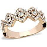 YourJewelleryBox 020 SOLITAIRE ACCENTS ENGAGEMENT SIMULATED DIAMONDS STAINLESS STEEL RING CUSHION