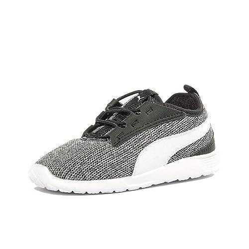 dernier couleur n brillante haut de gamme pas cher Puma Chaussures Trainer Evolution V2 Noir Bébé Garçon ...