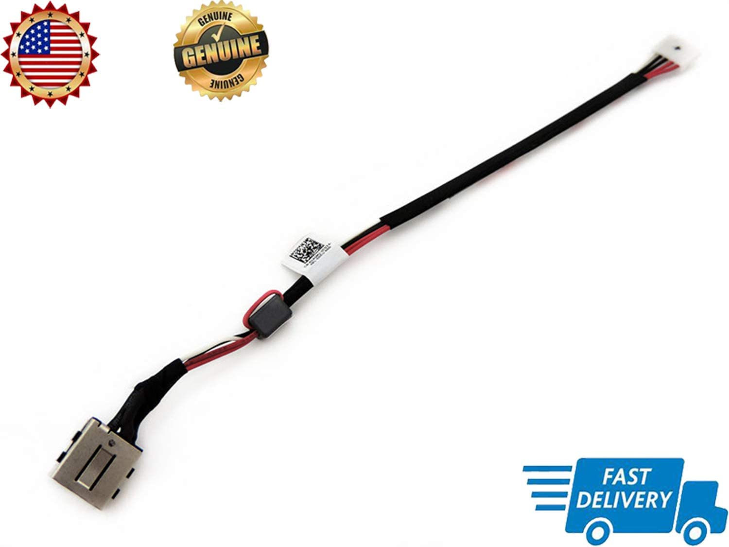 Genuine New DC in Power Jack Cable Harness Plug in Socket Connector for Dell Latitude 3550 0J4GMJ