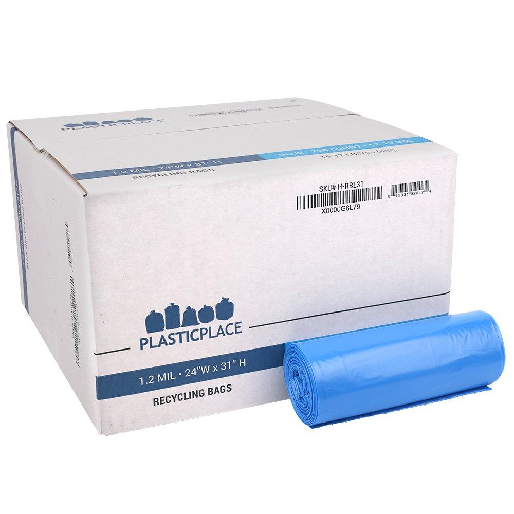 Amazon.com: Plasticplace 12-16 Gallon Recycling Bags - 24\