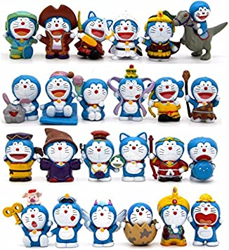 Doraemon lote de 24 figuras disfraces - Tamaño 2,5 - 4 cm Nobita ...
