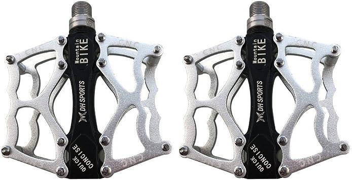 Lars 360 Pedales MTB Bicicleta Montaña, Plata Pedals Impermeable 9 ...