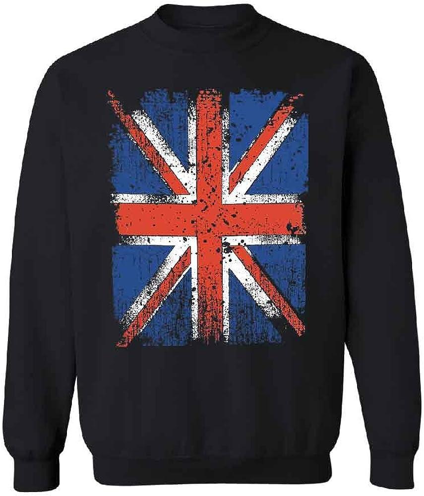 Distressed British Flag Unisex Crewneck Vintage Union Jack UK Flag Sweater
