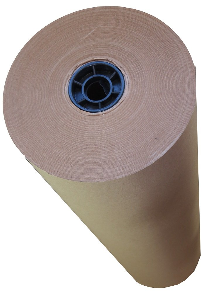 1 Large Roll Of 88gsm Pure Kraft Brown Wrapping Parcel Paper - Size 600mm Wide x 100 Metres Per Roll - Strong Packaging Mailing Postal Supplies