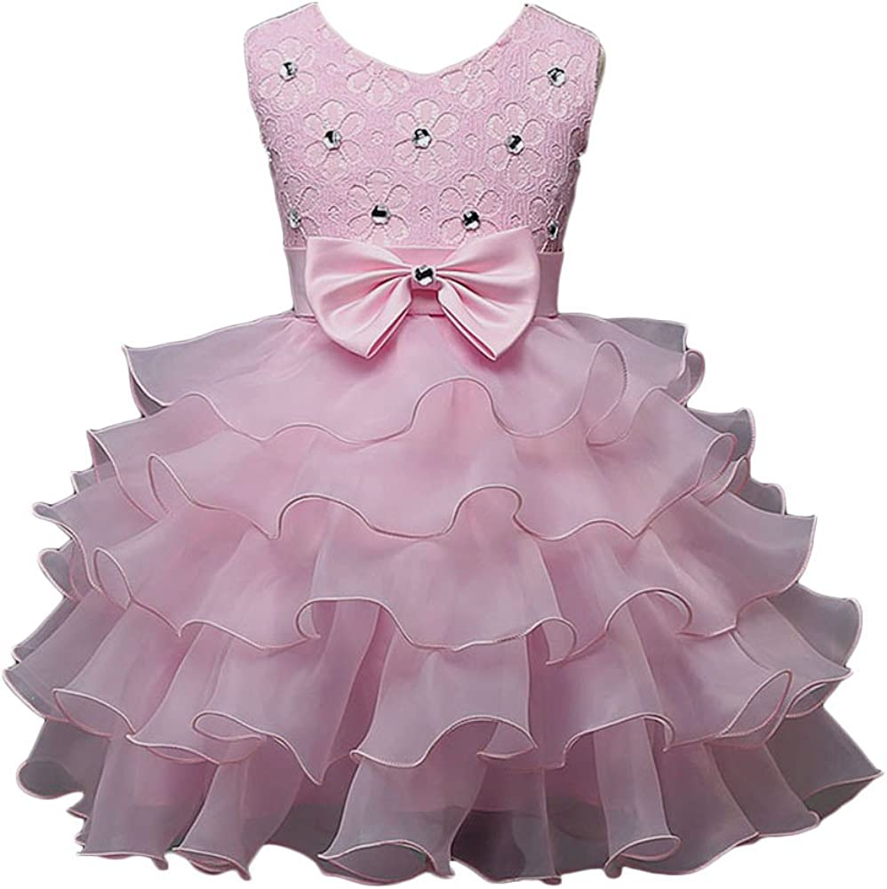 US Kids Baby Girls Floral Dress Party Pageant Dress Holiday Casual Tutu Sundress