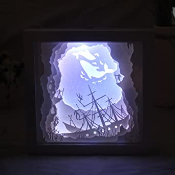 ohtop Papercut caja de luz, LED USB lámpara de luz nocturna ...