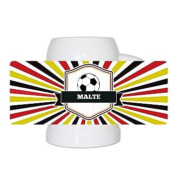 Fussball Bierkrug Mit Namen Malte Und Schonem Amazon De