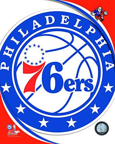 (NBA Philadelphia 76ers Team Logo Photograph (Size: 8