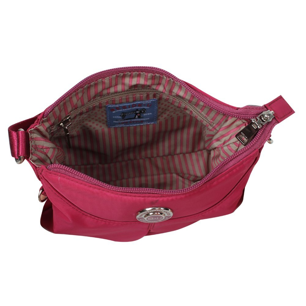 One Size Travelers Choice BMF21-851 Beside-U Skye Crossbody Bag Purple Violet
