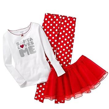 db67fe0a49f9 Amazon.com  Carter s I Heart Santa Pajama Set (4T)  Baby
