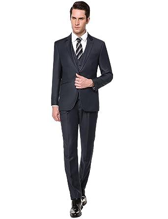 3b0a697c dongba 3 Piece Suit Black Suits for Men Slim fit Men Suit Jacket Big ...