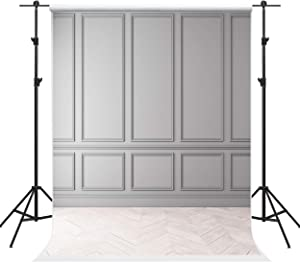 Kate 5×7ft Modern Classic Gray Panels Backdrops Empty Interior Wood Floor Photography Backdrops Background for Photographer Photo Studio Prop