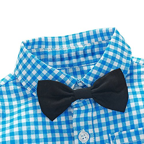 b9a89e10e83c6 Yilaku Toddler Boys Outfits Suit Infant Clothing Newborn Baby Boy Clothes  Sets Gentleman Plaid Top+