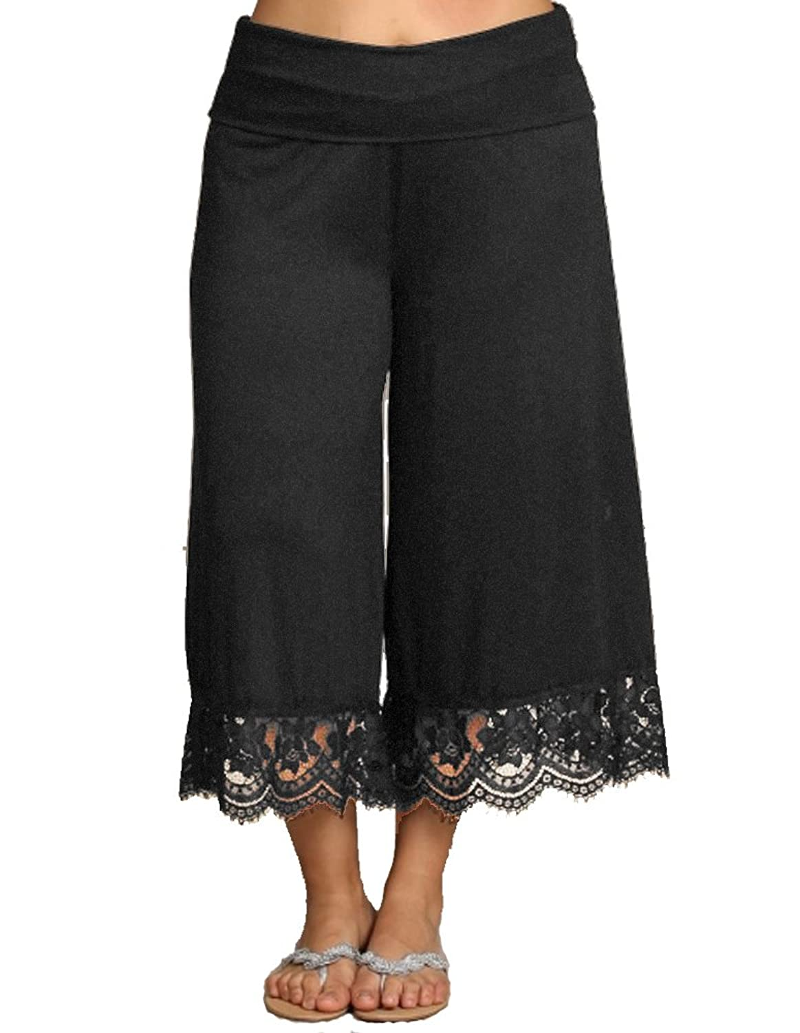Plus Size Women's Gaucho Pants Capris Flowy Soft Made in the USA ...