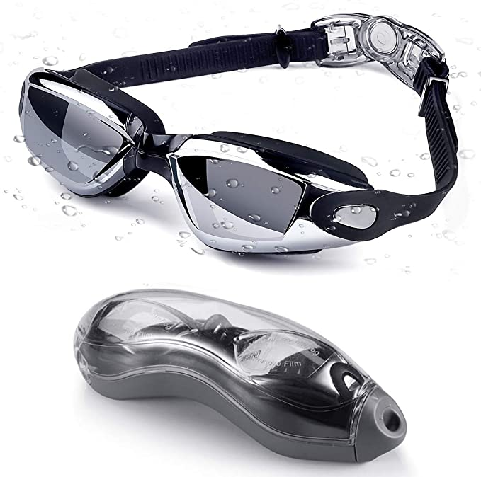 No Leaking Anti Fog UV Protection for Unisex Adult Men and Women Bee School Swim Goggles and Cap