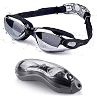 Letsfit Swim Goggles, No Leaking Anti-Fog Indoor Outdoor Swimming Goggles with UV Protection Mirrored Clear Lenses for Adult Women Men Youth Kids