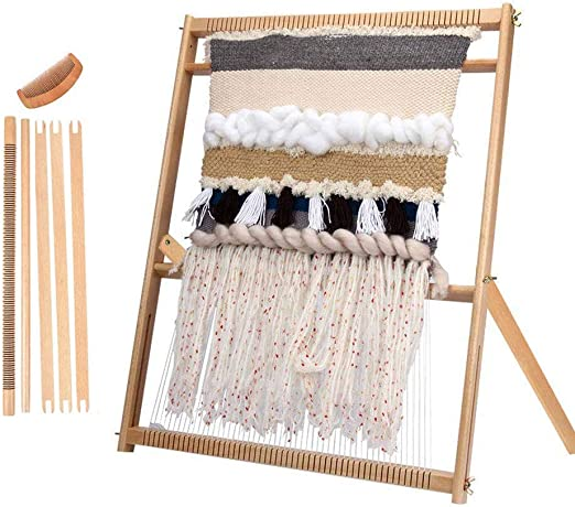 Esquirla Weaving Loom with Stand Wooden Multi-Craft Weaving Loom Arts /& Crafts Develops Creativity Weaving Frame Loom with Stand for Beginner