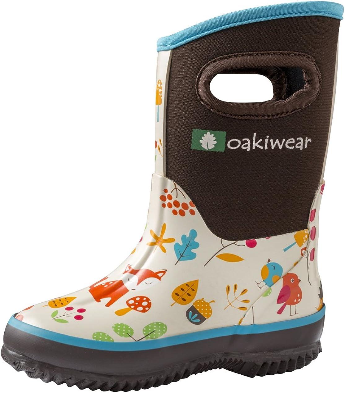 Oaki Kid\'S Neoprene Rain Boots, Snow Boots, Muck Boots