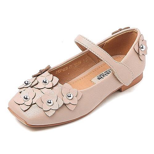 207738d6a8d CYBLING Girls Ballet Ballerina Flats Princess Shoes Flower Girl ...