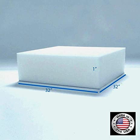 1 X 32u0026quot; X 32u0026quot; Upholstery Foam Medium Firm Foam Soft Support (Chair