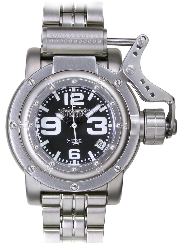 Retrowerk Automatik Uhr mit Spezialkronenhebel R013M