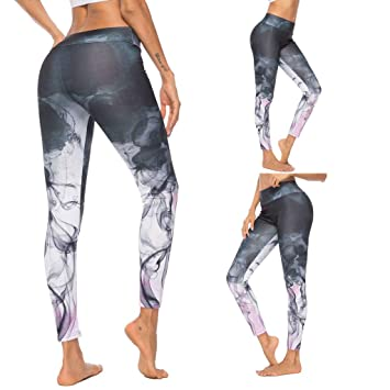 Amazon.com: Charmsamx - Pantalones de yoga de talle alto ...