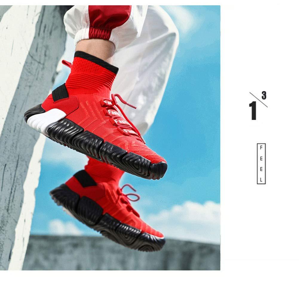 YAXUAN Herren Sportschuhe, 2019 Atmungsaktiv Hohe Laufschuhe Atmungsaktiv 2019 Hohe Qualität Männer Schuhe Trainer Turnschuhe Wilde Laufschuhe (Farbe   Weiß, Größe   46) 60a332