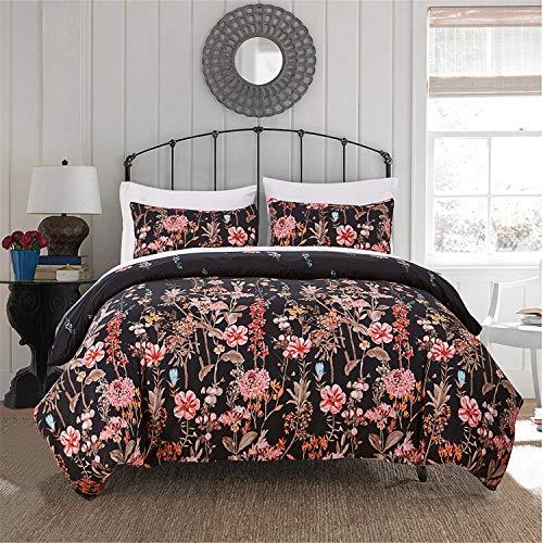(Floral Pattern Duvet Cover Set King (104
