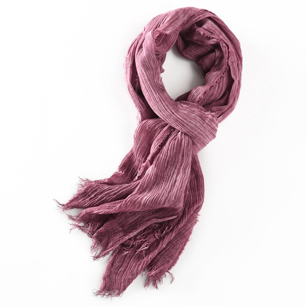 100% Cotton Fold Design Winter Warm Scarf For Men One size)