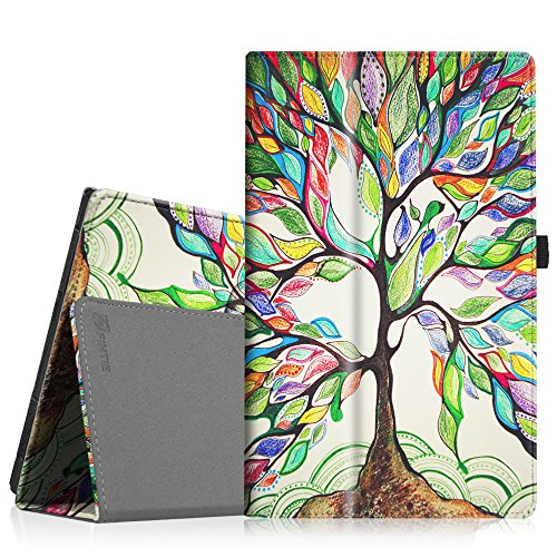 Fintie Case for NPOLE Tablet 10.1 (NT101) / Alldaymall A10T 10.1-Inch Android Tablet, Premium PU Leather Folio Cover with Stylus Holder, Love Tree