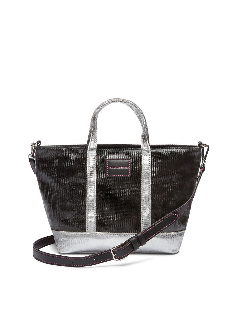 Victoria's Secret Limed Edition Metallic Silver Weekender Tote Bag & Crossbody Duo by Victoria's Secret (Image #4)