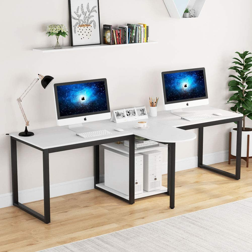 Tribesigns 94.5 inch Two Person Desk