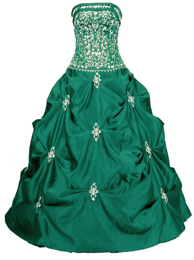 Snowskite Women's Long Formal Prom Ball Quinceanera Dress Party Gown Teal 6